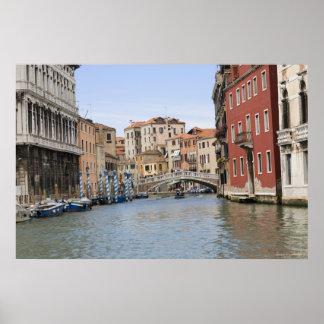 Pont au-dessus d'un canal, canal grand, Venise, Posters