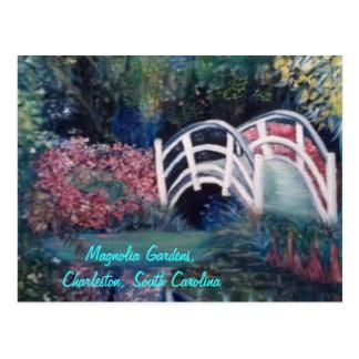 Pont blanc de invitation dans les jardins