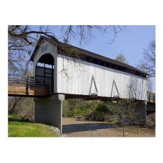 Pont couvert de crique d'antilope, construit en carte postale