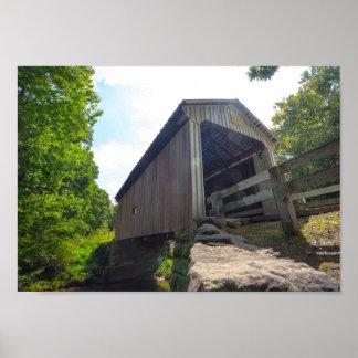 Pont couvert de Henry, Ohio Poster
