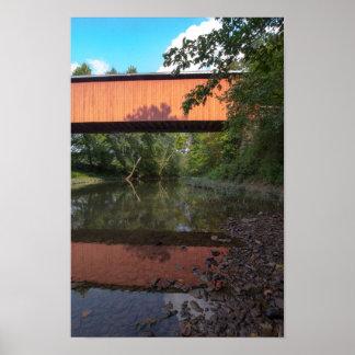 Pont couvert de Hune, Ohio Poster
