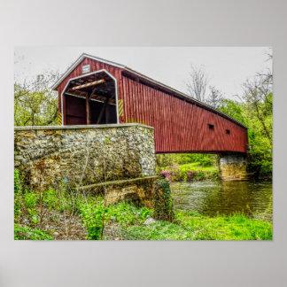 Pont couvert -- PA de Lancaster de _d'impression Posters