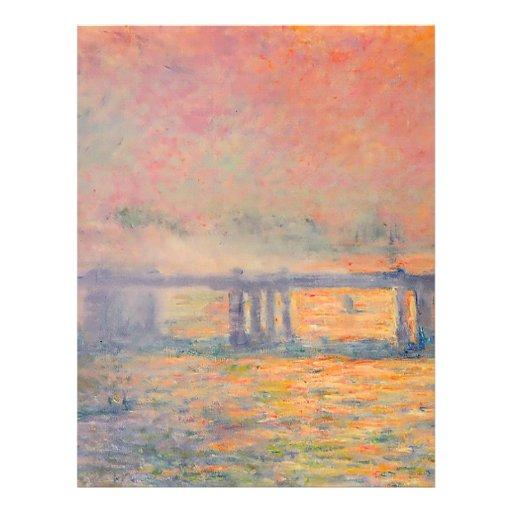Pont croisé de Claude Monet Charing Prospectus Personnalisés