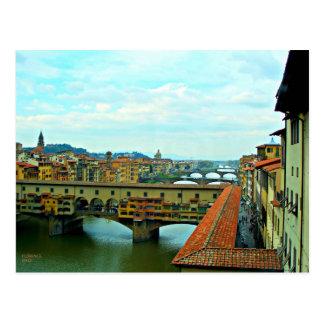 Pont d'achats de Florence, Italie Carte Postale