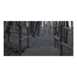 Pont dans la forêt/photographie à infrarouge photocarte customisée