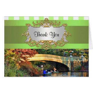Pont d'arc, carte de remerciements du Central Park