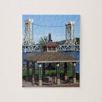 Pont d'ascenseur de lac portage puzzle