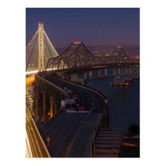 Pont de baie de San Francisco-Oakland de deux Cartes Postales