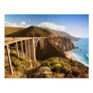 Pont de Bixby, grand Sur, la Californie, Cartes Postales