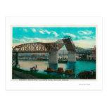Pont de Broadway au-dessus de rivière de Willamett Carte Postale