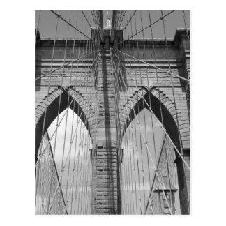 Pont de Brooklyn - carte postale de B&W