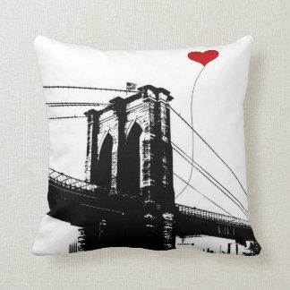Pont de Brooklyn Coussin Décoratif