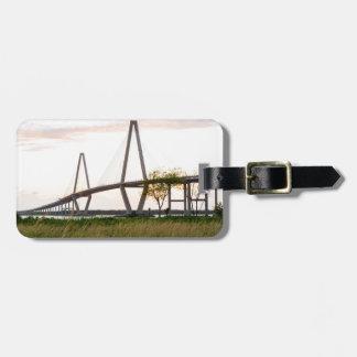 Pont de Charleston la Caroline du Sud - rivière de Étiquette À Bagage