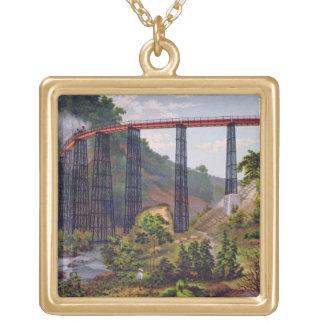 Pont de chemin de fer chez Metlac, du 'album du Me Collier Plaqué Or