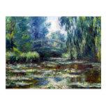 Pont de Claude Monet au-dessus d'étang de nénuphar Carte Postale