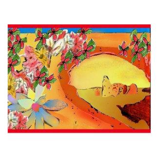 Pont de désert de carte postale d'art