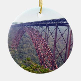 Pont de gorge de nouvelle rivière ornement rond en céramique