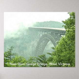 Pont de gorge de nouvelle rivière WVa Poster