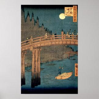 Pont de Kyoto par clair de lune Posters