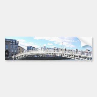Pont de Liffey - pont de demi-penny Autocollant Pour Voiture