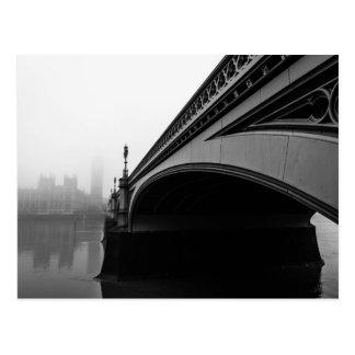 Pont de Londres Westminster en carte postale de