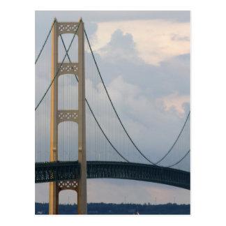Pont de Mackinac, Michigan, Etats-Unis Carte Postale