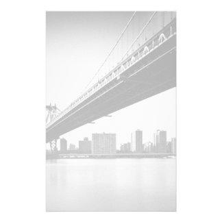 Pont de Manhattan et horizon, New York, USA Papier À Lettre Customisable