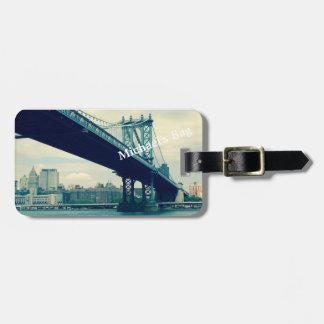 Pont de Manhattan, étiquette faite sur commande de Étiquette À Bagage