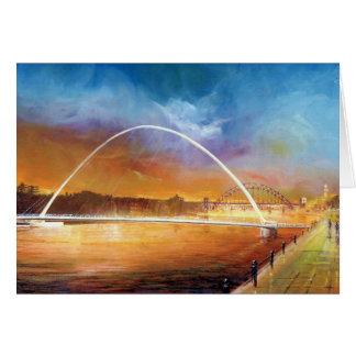 Pont de millénaire, Newcastle sur la carte de Tyne