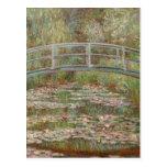 Pont de Monet au-dessus d'impressionniste d'étang  Cartes Postales