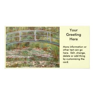 """Pont de Monet le """"au-dessus d'un étang des nénupha Carte Avec Photo"""