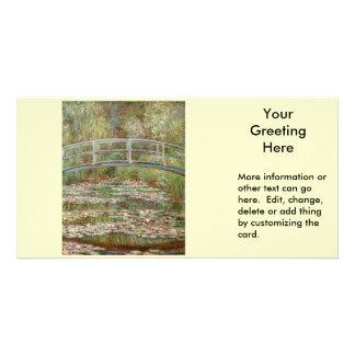 """Pont de Monet le """"au-dessus d'un étang des nénupha Cartes Avec Photo"""