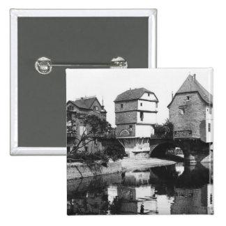 Pont de Nahe, Bad Kreuznach, c.1910 Badge
