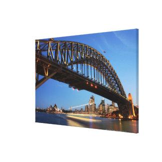 Pont de port de Sydney, théatre de l'opéra de Toiles
