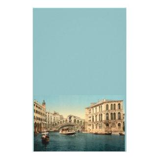 Pont de Rialto et canal grand, Venise, Italie Papier À Lettre Customisable