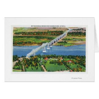 Pont de Rip Van Winkle au-dessus du fleuve Hudson Carte De Vœux