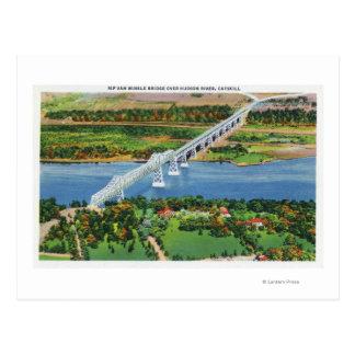 Pont de Rip Van Winkle au-dessus du fleuve Hudson Carte Postale
