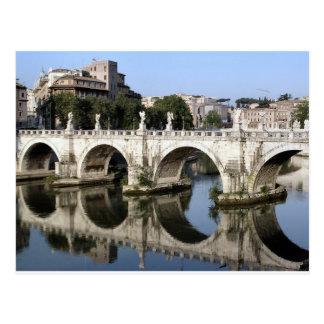 Pont de St Angelo, Rome, Italie de Castel Carte Postale