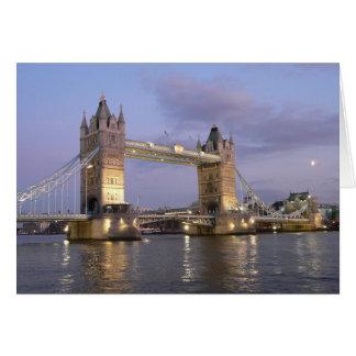 Pont de tour de carte pour notes de Londres