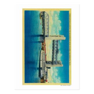 Pont de tour élevé pour le fleuve Sacramento Carte Postale