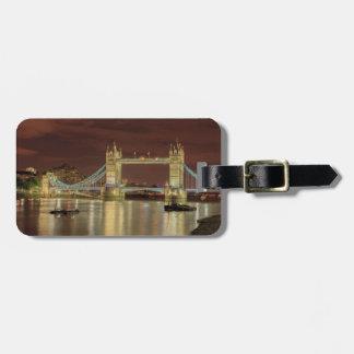 Pont de tour la nuit, Londres Étiquette Pour Bagages