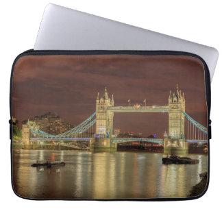 Pont de tour la nuit, Londres Trousses Pour Ordinateur Portable