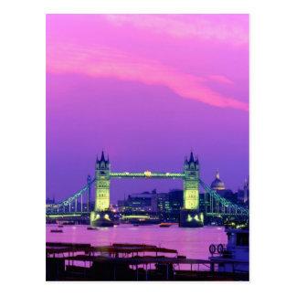 Pont de tour, Londres, Angleterre 2 Carte Postale