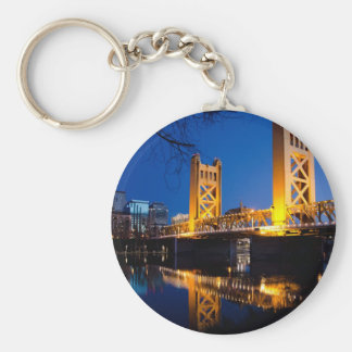 Pont de tour - Sacramento, CA Porte-clé Rond