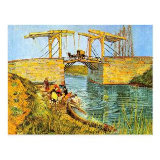 Pont de Van Gogh Langlois au lavage de femmes Carte Postale