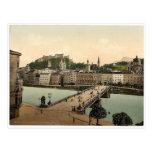 Pont de ville, Salzbourg, Austro-Hongrie Photoch r Carte Postale