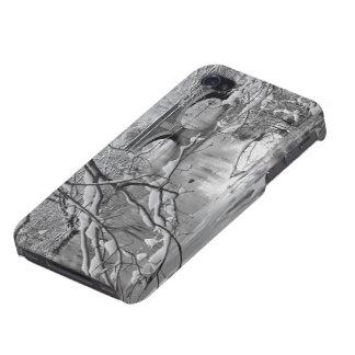 Pont de voûte au-dessus de rivière congelée en iPhone 4 case