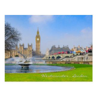 Pont de Westminster et Big Ben, carte postale de