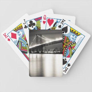 Pont de Williamsburg à New York City la nuit Jeux De Cartes