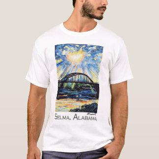 Pont d'Edmund Pettus, Selma Alabama, rayon de T-shirt